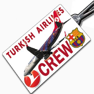 THY Turkish FC-Barcelona 737 Tag